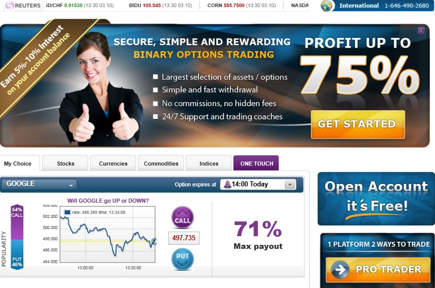Tradersroom binary options