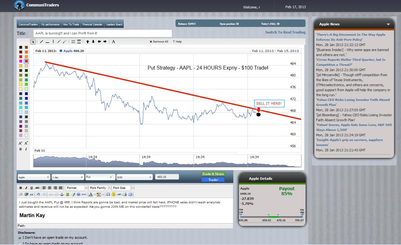 social Binary Options trading platform