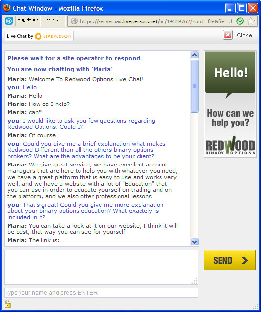 RedWood Chat Preview