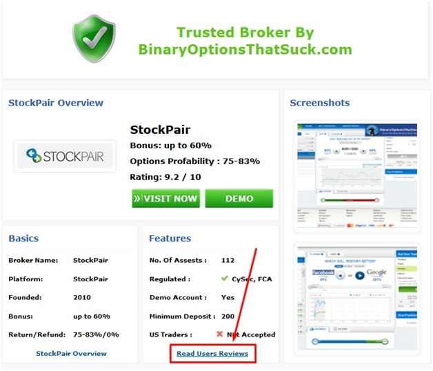 on the brokers review page
