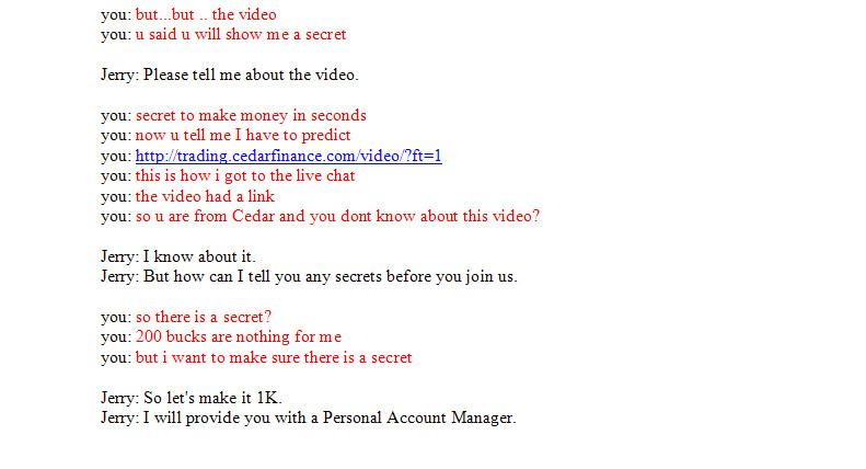 Cedar Finance Chat