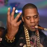 Jay Z wearing gold!