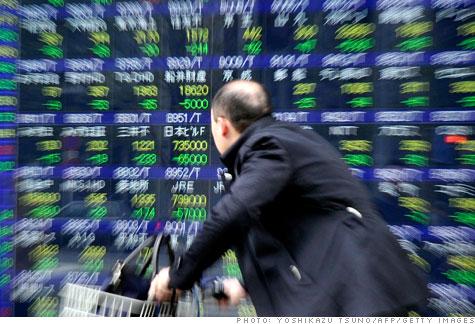 Japan Stock exchange screen boards