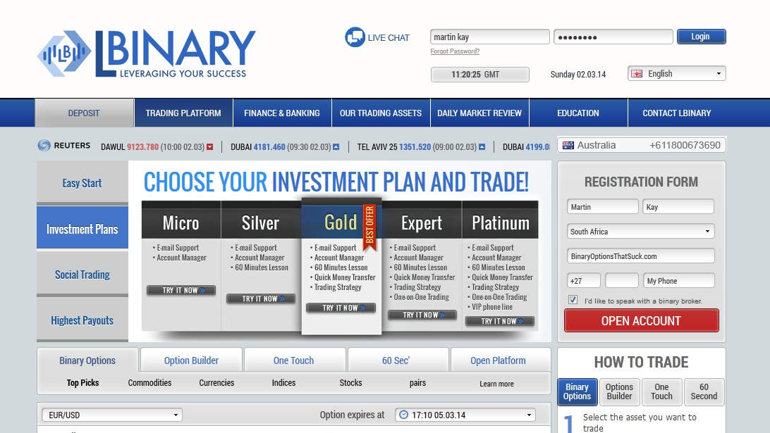 Ig binary option review