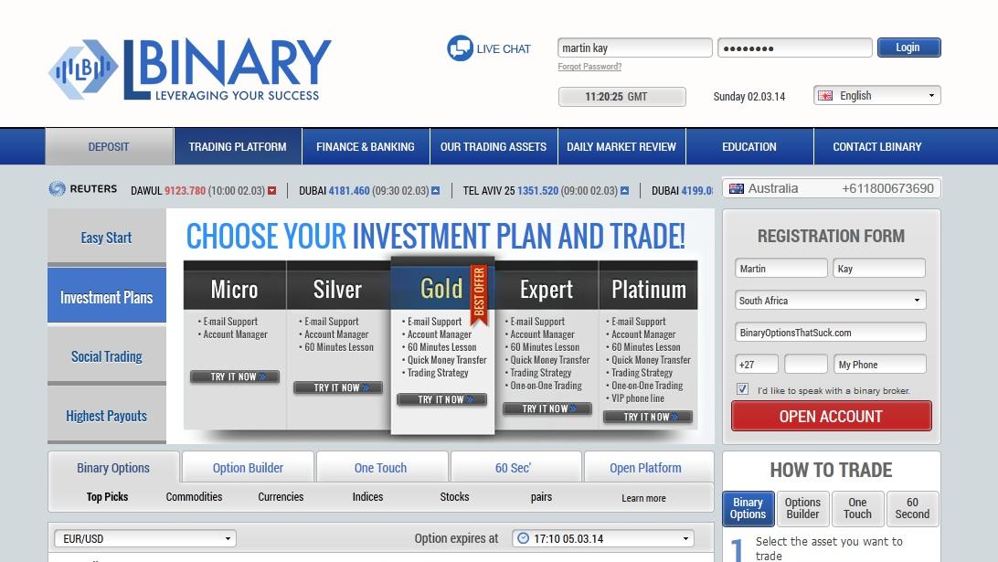 binary options experts platinum