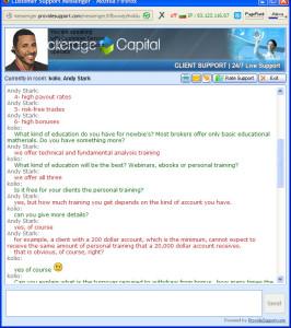 BrokerageCapital Chat Preview