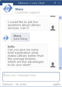 LBinary FAQ Chat Preview