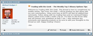 Trading Tip from the Geek
