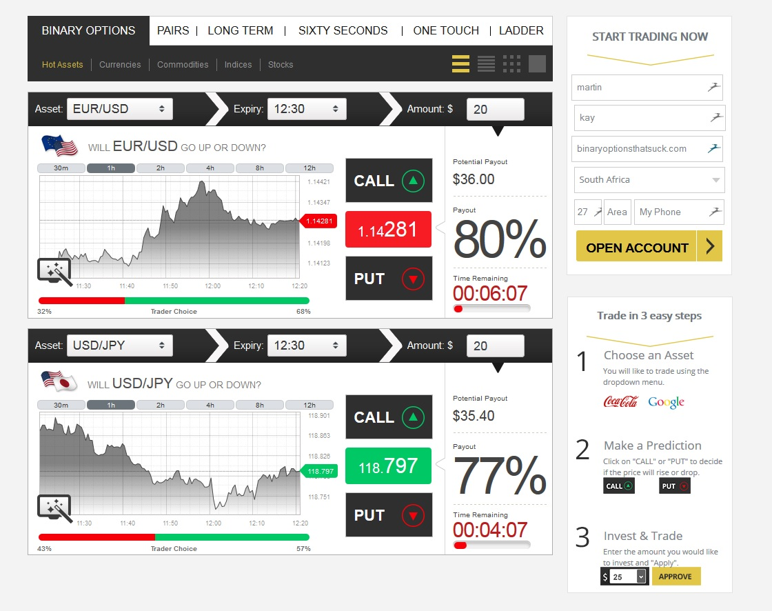 How to trading an advanced binary options with no money