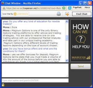 MagnumOption FAQ Chat