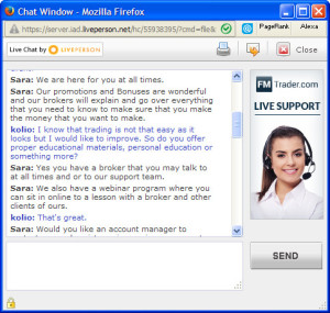FMTrader FAQ Live Chat