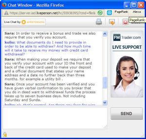 FMTrader Live Chat FAQ