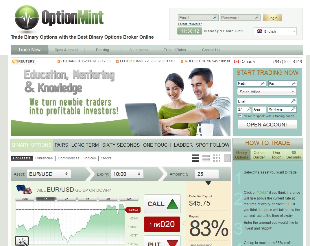 Option mint trading