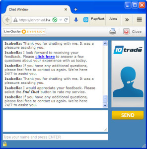 10Trade FAQ Chat