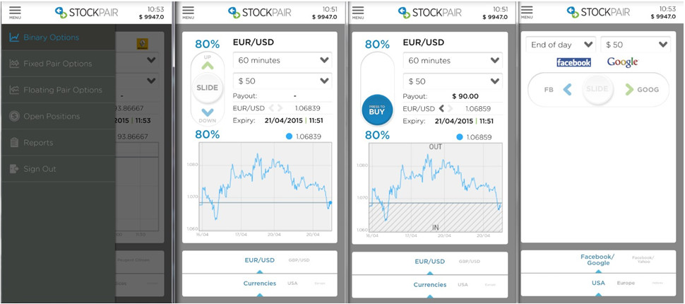 Stockpair's Mobile Trading App Preview