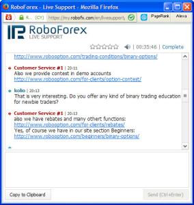 RoboOption Chat