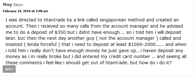 May scam