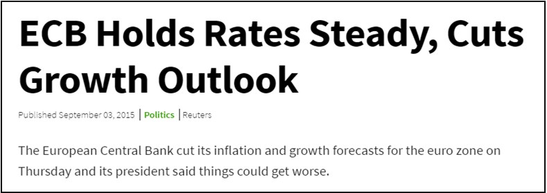 This fundamental news from Reuters is about central bank interest rates, outlook cuts are a surprise.
