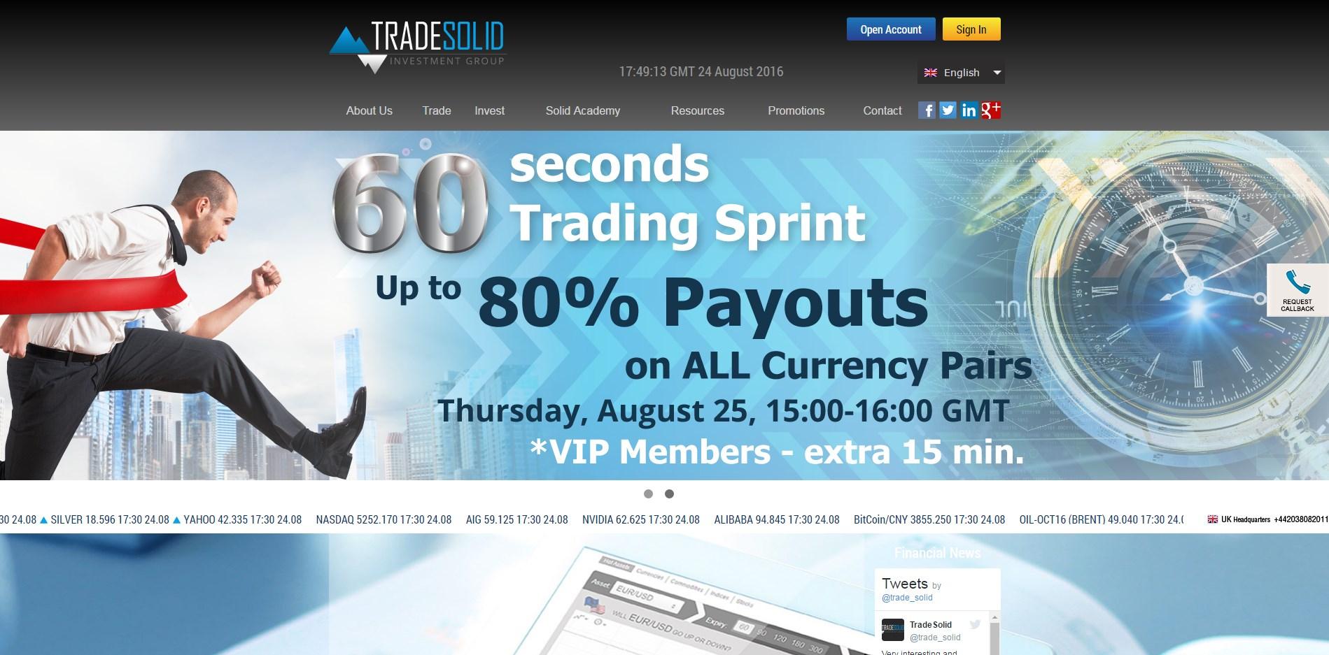 Binary trade web service