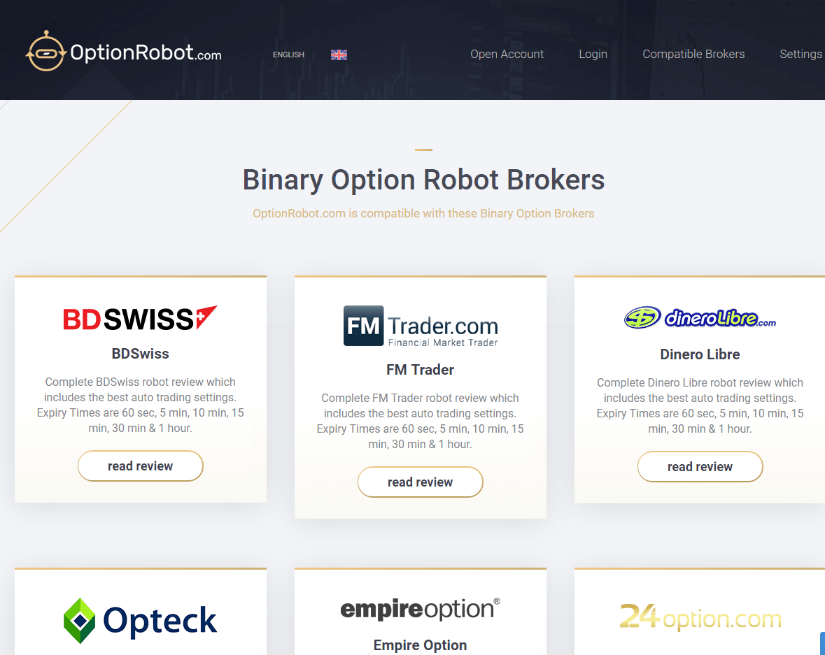 Approved binary option brokers
