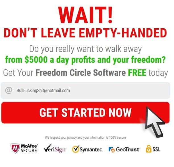 Freedom circle scam