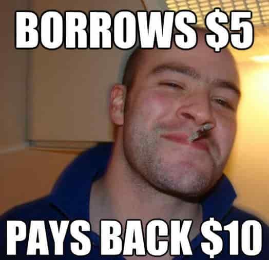 borrow money meme