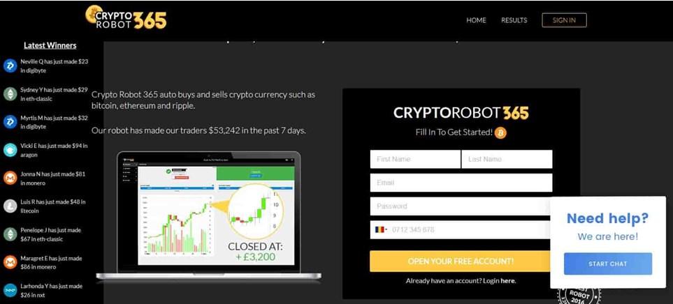 crypto robot 365 scam