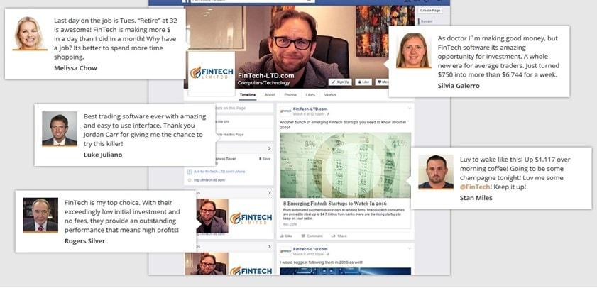 fintech fake testimonials
