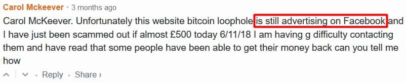 Bitcoin Loophole facebook