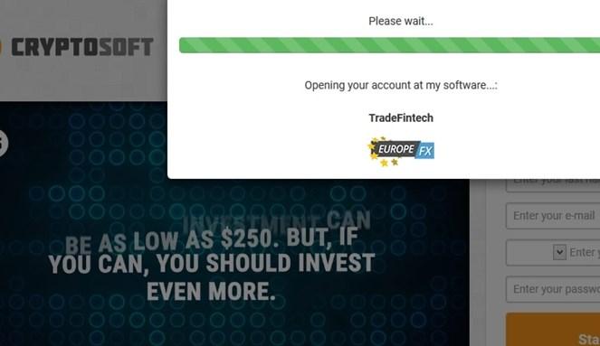CryptoSoft deposit $250