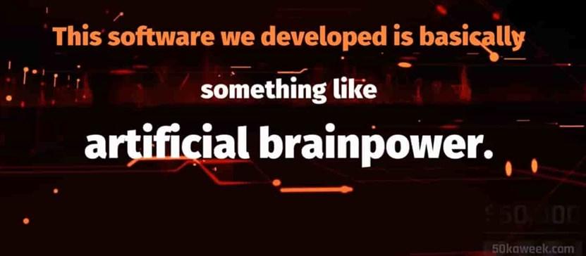 50k a week artificial brainpower