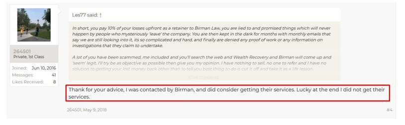 Binary options recovery services scam