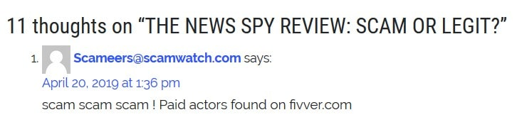 The News Spy exposed